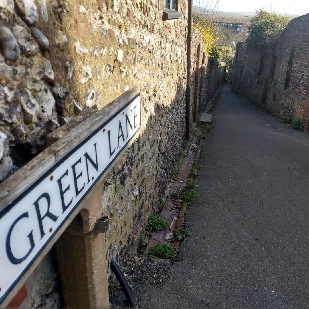 A view down Green Lane