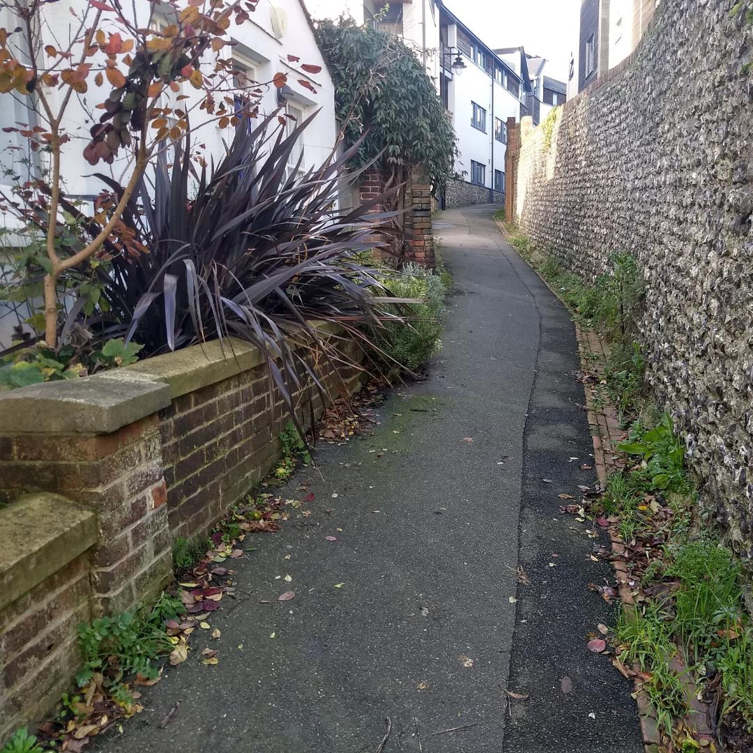 A view down Walwers Lane